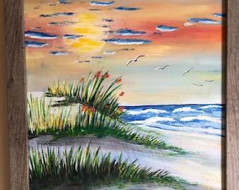 Shore Summer Sunrise - Original Acryic Artwork 11x14