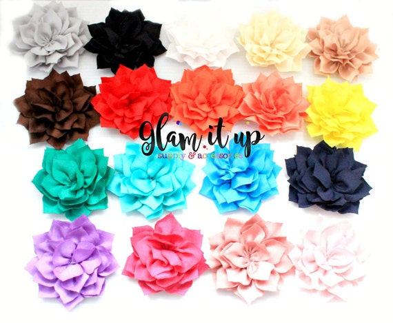 Lotus flowers satin flowers fabric flowers headband flowers silk lotus flowers satin flowers fabric flowers headband flowers silk flowers flower girl dress sash flowers flower headband diy 3 inch from glamitupsupply on mightylinksfo Images