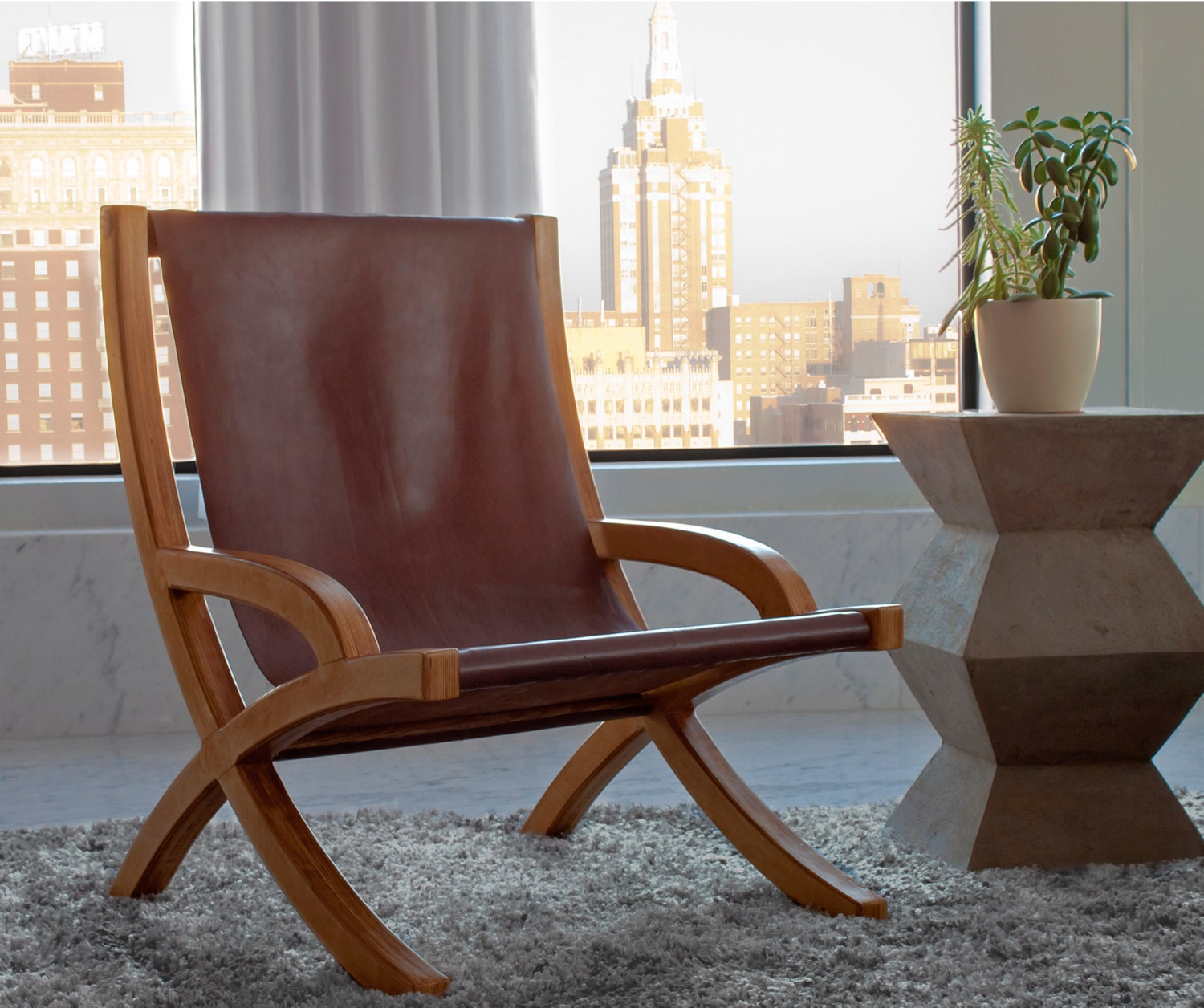 design heymans sling chair leather angle resized
