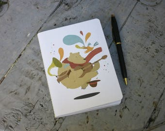 """The bear and bird"" A5 notebook"
