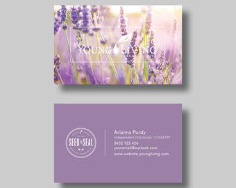 Young Living Essential Oils Business Card (Dreaming) - Digital Design