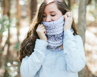 Chunky Infinity Textured Knit Scarf Long Ribbed // The JAMES INFINITY