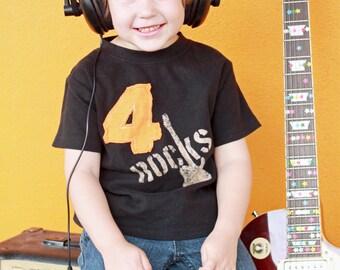 ROCK Birthday shirt, Toddler Birthday Shirt, Kids birthday shirt, Number Shirt, Personalized, Birthday gift