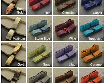2 cm Cord, Leather Cord, Wide Leather Cord, Deer Hide Leather, Deer Hide Cord, Colorful Leather, Colorful Cord, DIY Necklace, DIY Bracelet