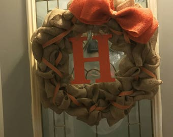 Personalized Door Wreath