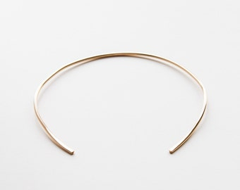 Gold Filled Cuff Necklace