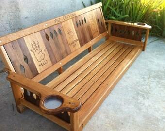 Personalized Oak/ Walnut Porch Swing