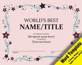 edit a template in word