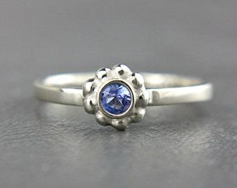 Tanzanite Engagement Ring Tanzanite 14k White Gold Ring Natural Tanzanite Gold Ring Made in Your Size Tanzanite Engagement Ring