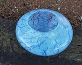 Blue on Blue Crackle Nest...