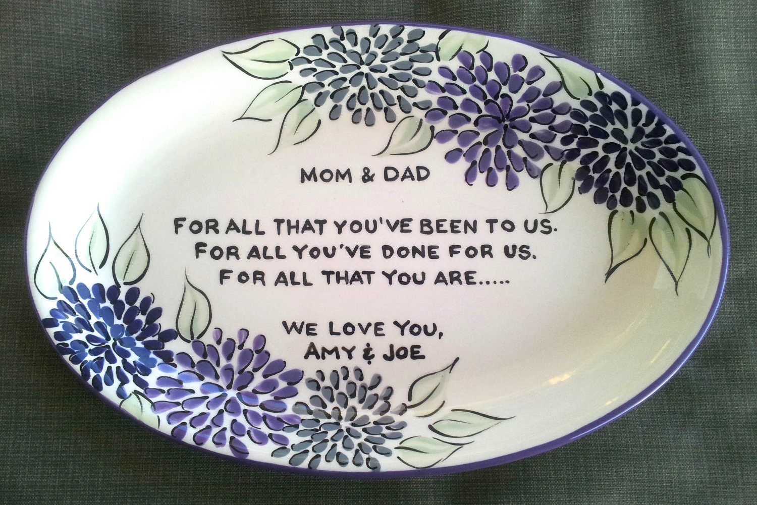 Marriage anniversary gifts for mom and dad ~ Mom dad thank you gift for parents on wedding day from