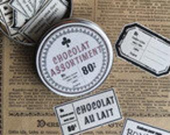 Chocolat assortiment sticker Milk (milk)