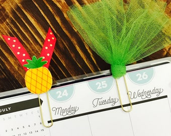 Pineapple and Tulle Paperclips