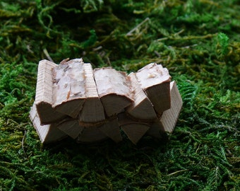 Miniature Woodpile Fairy Garden Accessories