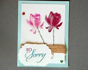 Sorry card, sympathy card, condolences card, I'm sorry gift, sympathy gift, Stampin Up card, hand stamped card, homemade card, stamptastic