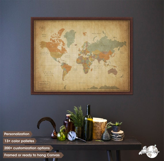 Pin world map family travel map map of the world pinboard like this item gumiabroncs Choice Image