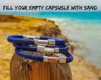 Travel bracelet, Travel Gift, Eco Friendly, Vegan, Wedding Gift, Beach Wedding favors, Charm Bracelet, Ashes Jewelry, Relationship Bracelet