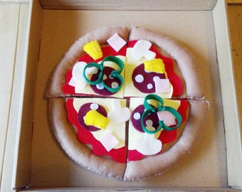 Felt play food - pizza - 3D soft toy food