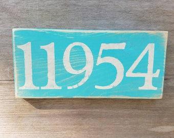 Montauk zip code sign 11954 / custom zip code sign / zip code
