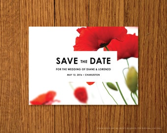 Modern Love | Printable Save the Date Card Template | Instant Download