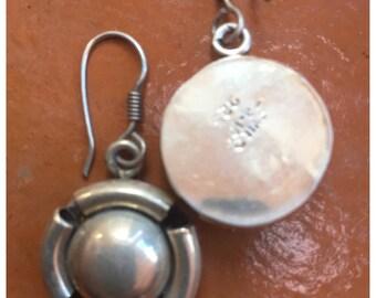 """Vintage Sterling Earrings, Taxco, MX, Handmade, Stamped, Beautiful, 1.25"""""""