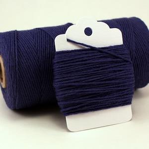 Blue Twine - Solid Navy Divine Twine - Dark Blue Twine - Wedding Twine - Blue String - Navy String - Blue Crafting Twine - Blue Cotton Twine