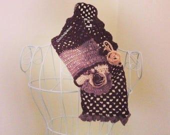 Neck woman Christmas Freeform crochet