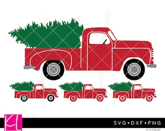 Little Red Truck svg, Old Truck svg, Vintage Truck svg, Christmas Truck svg, Fall Truck svg, Truck svg files, Christmas svg