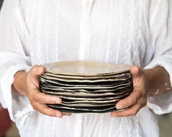 CERAMIC PLATE, Cake Plates,Salad Plate, Side Plate, Ceramic Plate Set, Dessert Plate, Decorative Plate, Handmade Plate, Housewarming Gift