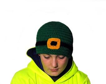 Leprechaun Beanie, Adult St. Patricks Day Hat, Green Stocking Cap, Leprechaun Crochet Hat, Mens St. Patricks Day Hat, Knit Beanie, Teen Kids