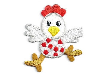 Chicken - Farm Animal - Farm - Fun Children - Embroidered Iron On Patch