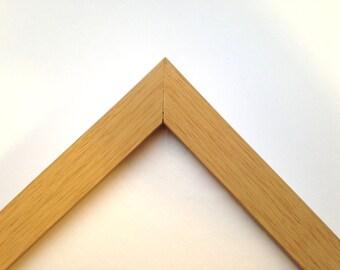"Custom Natural Wood Tone Frame, 3/4"" Wide, Made to Order"
