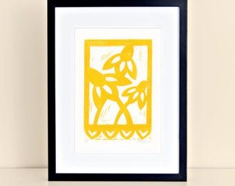 Texas Wildflower Digital Print -  Print Papel Picado Yellow Coneflower 8x10 4x6