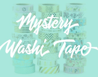 Mystery Washi Tape // Bullet Journal • Lucky Dip • Foil Washi Tape • Grab Bag • Bujo Supplies • Craft Tape