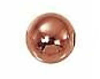6mm Solid Copper Round Beads (100) Bright Finish
