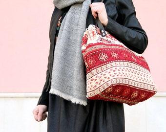 Bohemian tote bag, extra large tote, tapestry tote bag, ethnic shoulder bag, large boho bag, gipsy bag, tribal tote bag