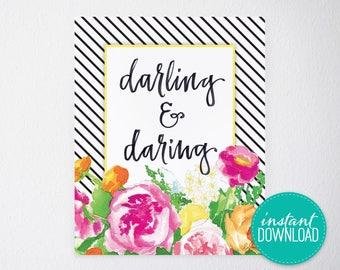 Darling & Daring Printable