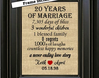 Framed first wedding anniversary st anniversary gift year