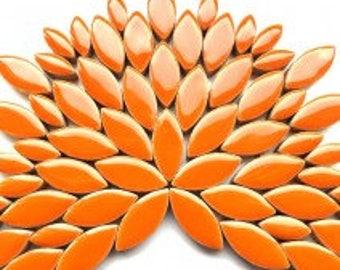 Petal Ceramic Mosaic Tiles - Orange - 50g (approx 50 petals) (1.75 oz)