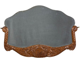 French Slip In Wall Mirror with Carved Wood Frame [1768]