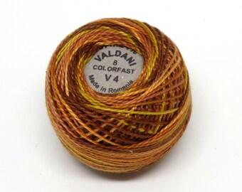 Valdani Pearl Cotton Thread Size 8 Variegated: #V4 Golden Browns