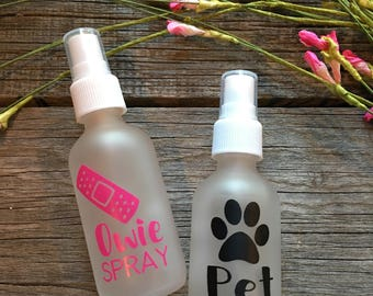 Frosted 2oz Owie or Pet Spray bottles