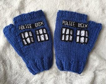Doctor Who Tardis Fingerless Gloves