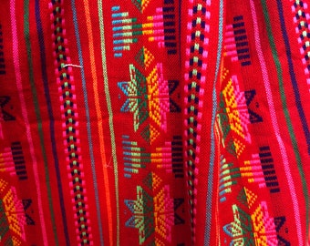 Mexican Fabric in Red Color ***Summer Sale***