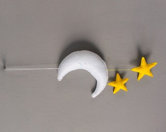 Felt Moon and Stars Mobile