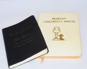 Vintage Adult and Child's Catholic Missals