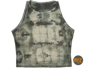 Olive Drab Tie Dye Crop Top
