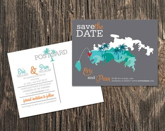 St. John USVI – Save the Date – Destination Wedding – Wedding Save the Dates