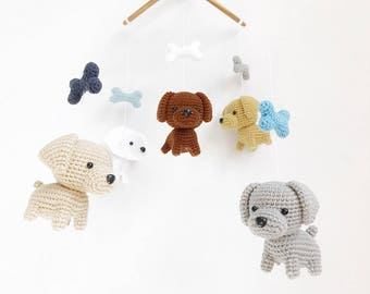 Baby Mobile Labrador Puppy Gnag Crochet, Dog baby mobile, Nursery decor,Dog crochet mobile, Labrador baby mobile, Baby Shower Gift