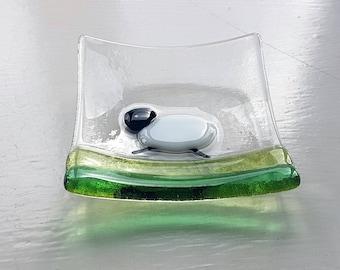 Trinket Tray with Sheep, Trinket Bowl, Glass Bowl